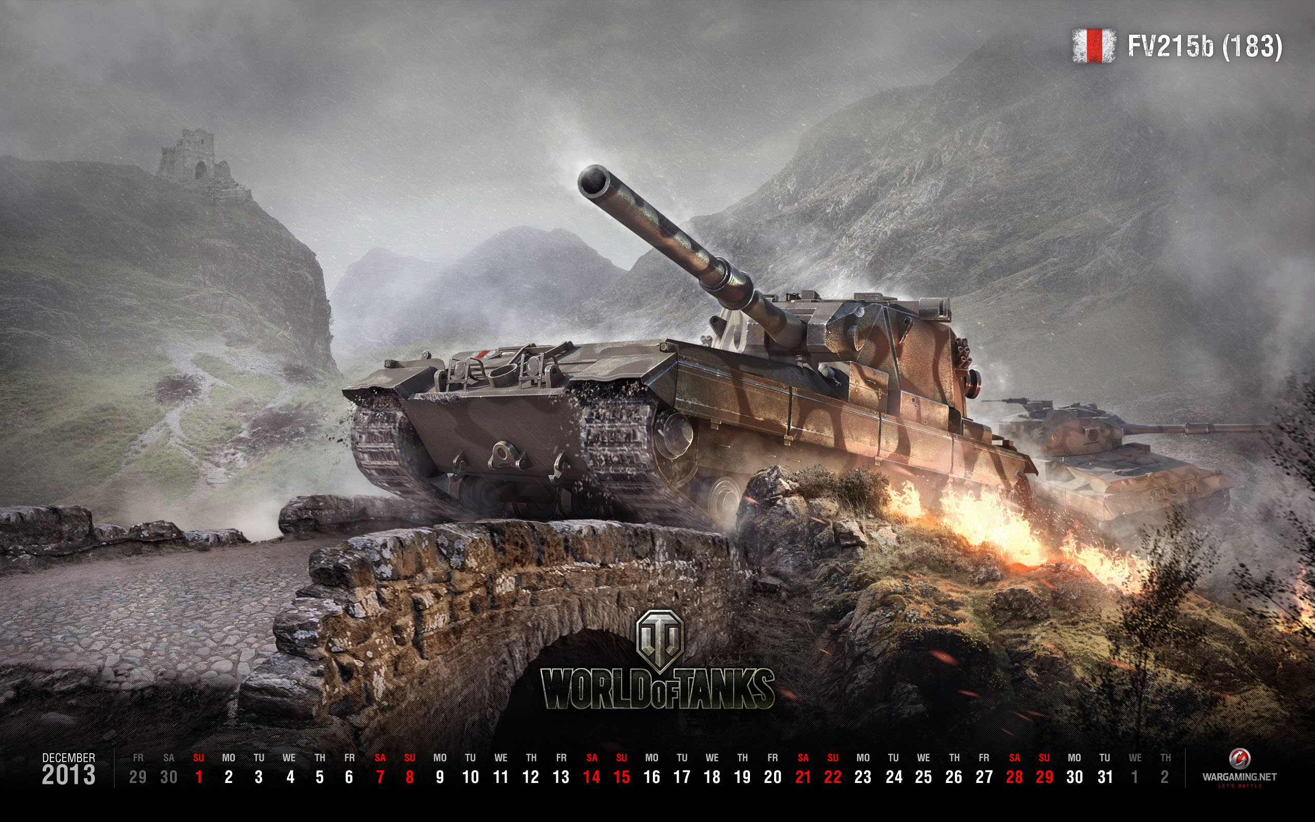wallpaper for december 2013 art world of tanks