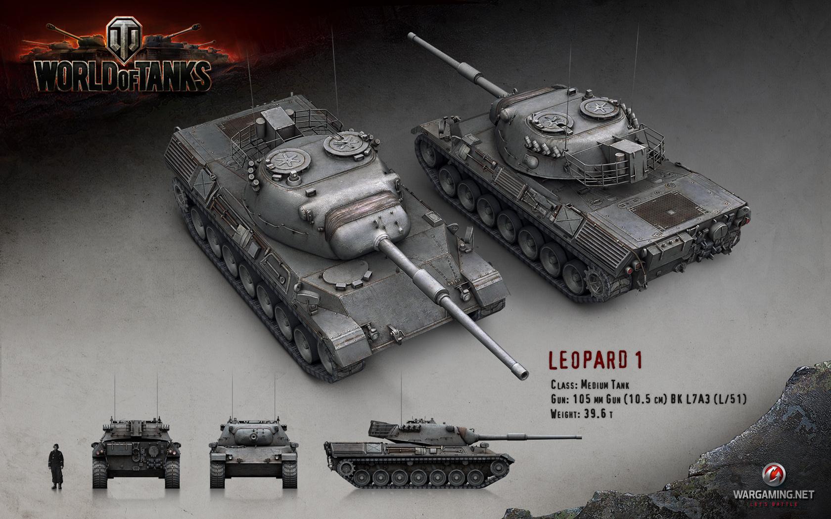 WOT Leopard 1 Tank